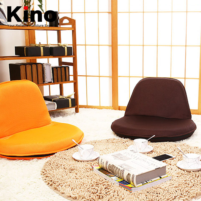 cute single person lazy small round sofa chair furniture mesh fabric covered folding chair