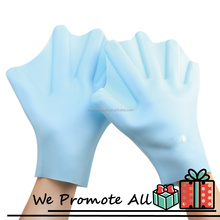 Manufacture Fashion Custom Size Finger Swimming Glove - Blue Color