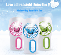 New promotion handheld water mist spray stand air cooler fan