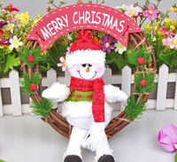 christmas ornament plush toy/ ICTI factory specialized for making christmas decoration plush toys