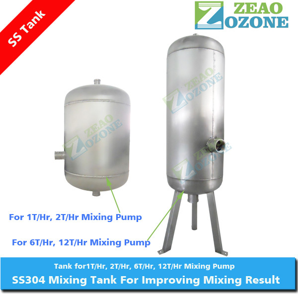 stainless steel storage water tank used with gas liquid mixing pump