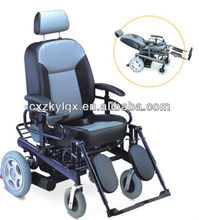 Hot sale reclining aluminum frame electric power wheelchair with comfortable cushion