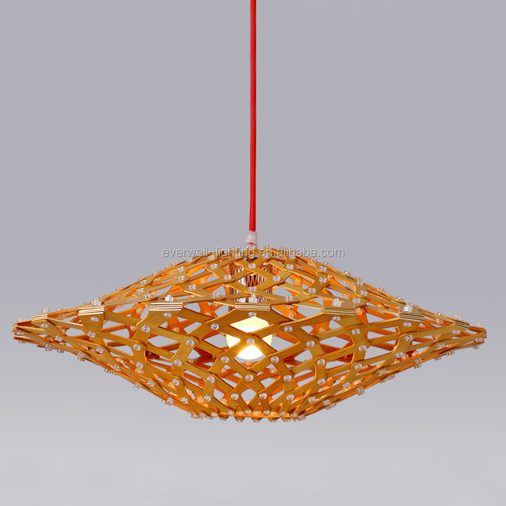 Wooden Pendant Chandelier Lamp Liviing and Bedroom Lamp