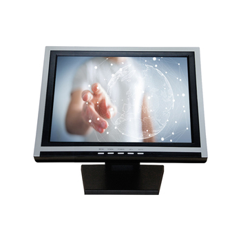 wall mount white / black 15 inch pos lcd touch screen monitor