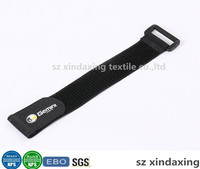 Strong hook and loop elastic straps print logo