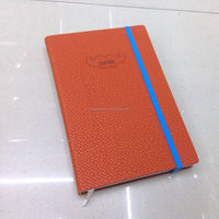 Good paper printing notebook with logo embossing on cover