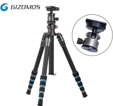 Gizomos max payload 12KGS tripod system with mini tripod ball head for professional photographers