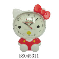 Kid's Room Clock Hello Kitty Digital Alarm Clock with Light for children