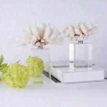 Wedding Centerpieces Crystal Art Beautiful Natural White Coral Crystal Holiday Gifts