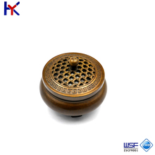 2017 Antique Imitation round pure copper incense burner for house life decoration