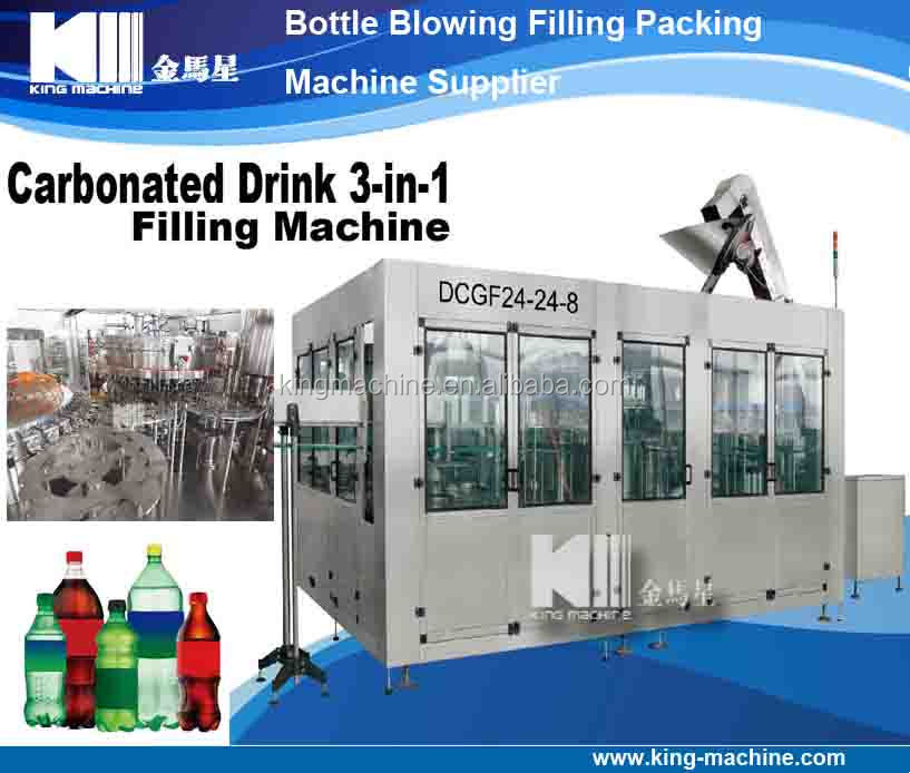 Completely Automatic Soda Water Making Machine / Carbonated Beverage Filling Machine