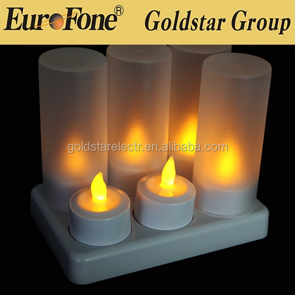 2015 china wholesale electric party candle tealight 6pcs/set