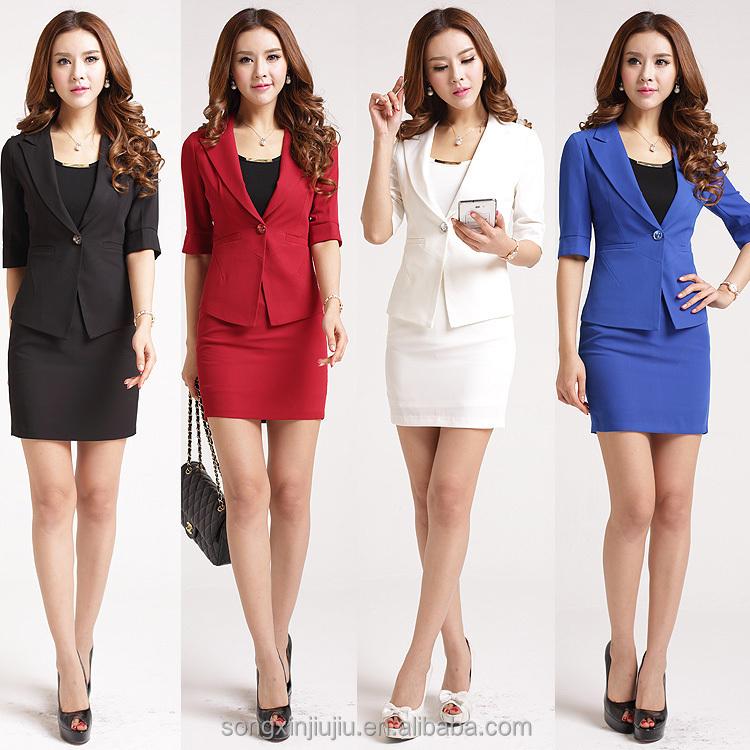 2015 New Style Ladies Office Uniform Design Women Office ...