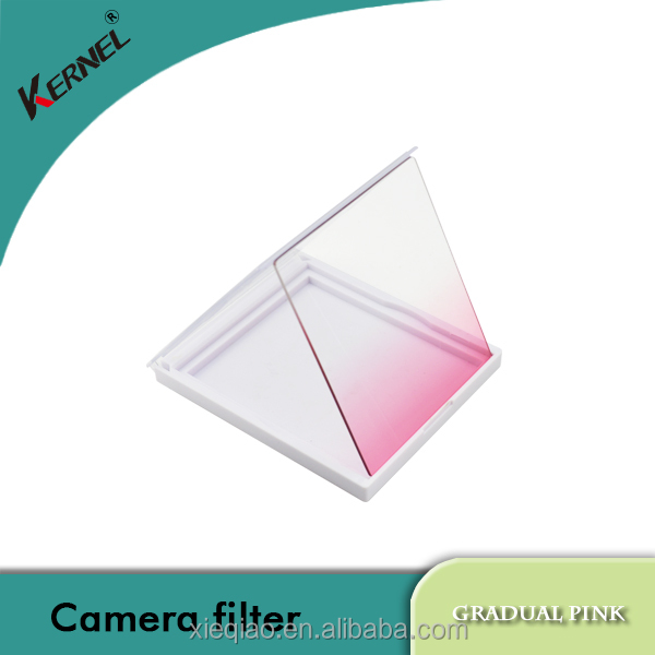 Kernel pink color square lens filter for general camera Cokin P ring