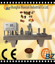 shanghai BZ practical full automatic rotary plastic cup filling and sealing machine for jelly/cream/paste/coffee/milk/yogurt