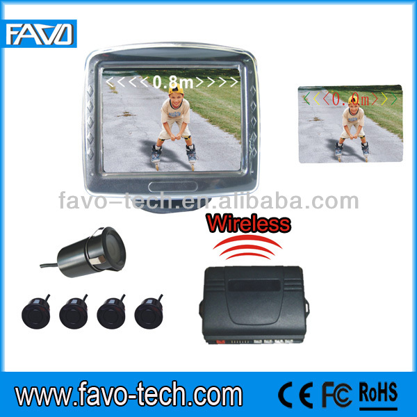 Wireless reverse car parking sensor with 3.5 inch TFT LCD sreen