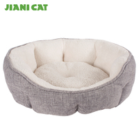 best sale new luxury plush linen dog bed