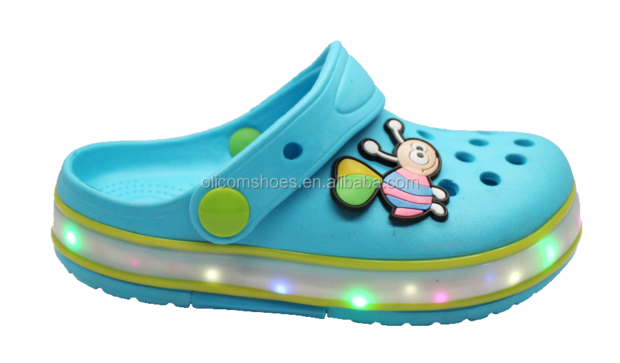 led light up kids shoes eva Clogs shoes led Shoes for girls