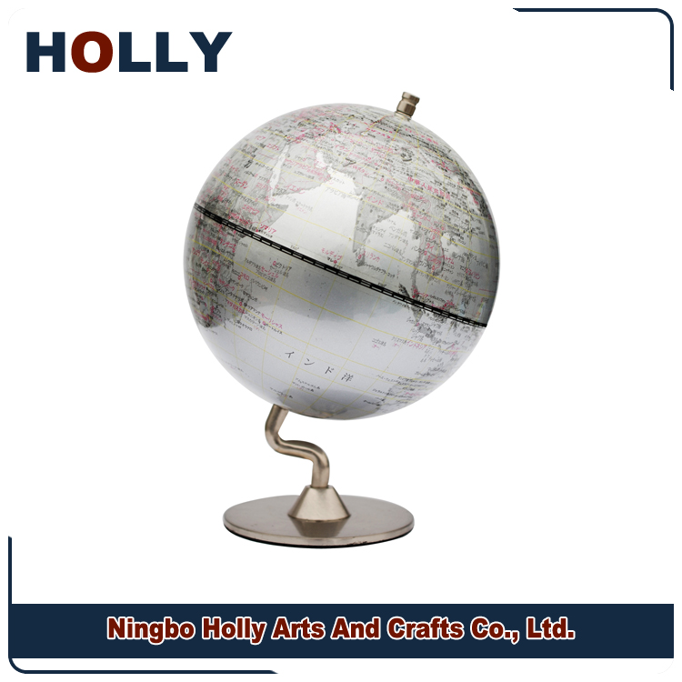 Special Metallic 13cm world globe map