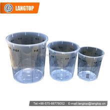 High quality OUNCE Clear Plastic Paint quart mixing cups 500ml