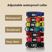 Pet training dog leading adjustable waterproof collars deodorant easy clean pet dog collars