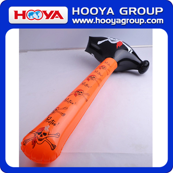 TY291743 Skull printed design PVC inflatable toy hammer