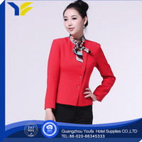 anti-static new style 100% cotton women leather business suit