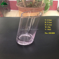 58ml 2oz Slant Askew Oblique Tilt Incline Lean Bias Shot Glass
