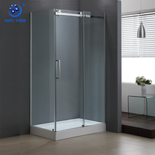 China 304 Stainless Steel Rectangle Sliding 1000 x 800 Glass Bathroom Shower Enclosure (KT8115)