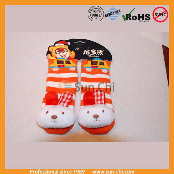 cute animal head infant baby socks,baby stripe socks shoes,wholesale infant cartoon stocking