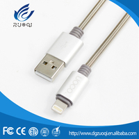 High durability customized silver charging 5v phone usb cable