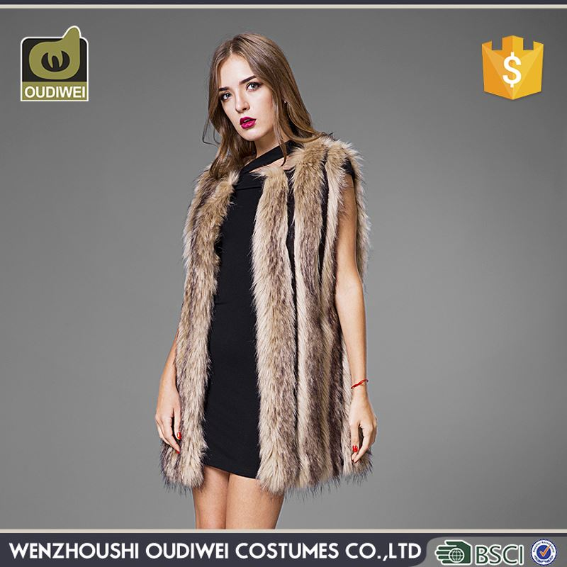 Best seller trendy style upmarket fur coats women