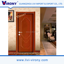 Safety Latest Cheap Wooden Single Main Door Design