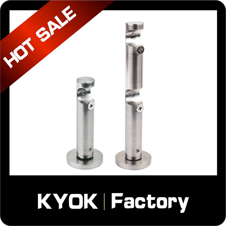 KYOK new products 25/28mm metal curtain rod bracket, iron curtain rod bracket & single curtain rail bracket