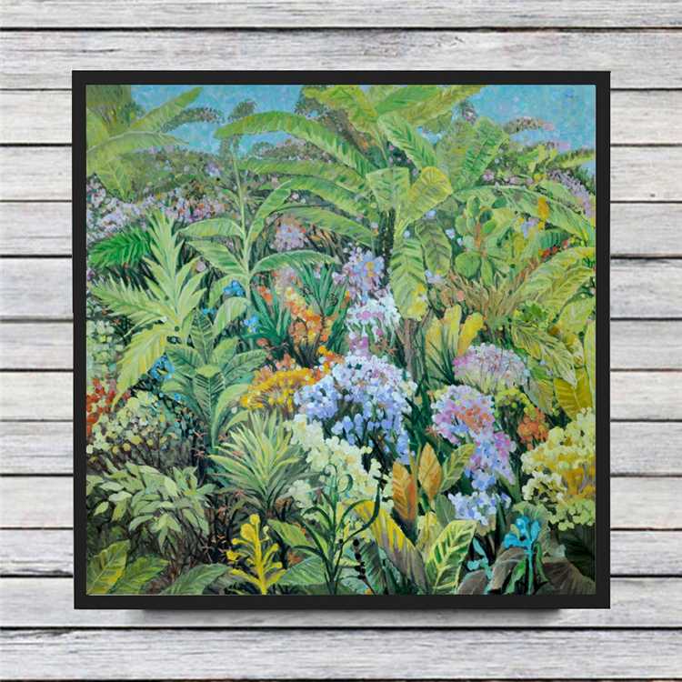Fecund nature plants and flowers modern oil painting