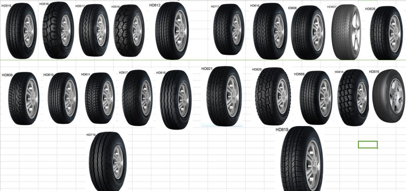 HAIDA with ECE DOT GCC pcr 185r14c tire