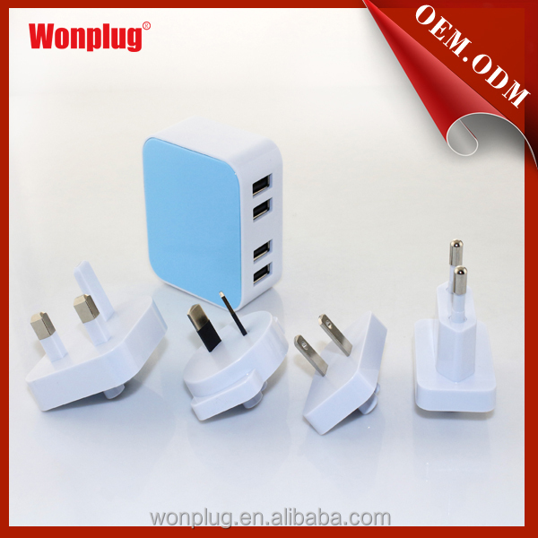 Universal 5V 2.1A Multi usb port Wall Charger with CE,ROHS approval