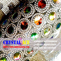 Self-Adhesive Rhinestone Crystal Bling Stickers color stones for phone Car Art