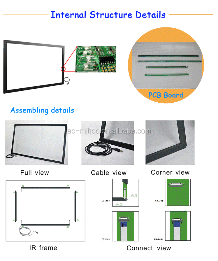 "Hot 15"" to 220"" Infrared Multi Touch Screen/Touch Panel/Touch Screen Panel"