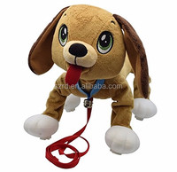 Stuffed Plush Dog That Walks Along With You Kid Powered Dog Toy Includes Collar and Leash