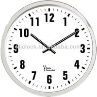 Radio Controlled Clock Movement Round White Wall Clock