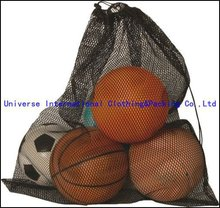 Sport mesh packing bags for basketball and football