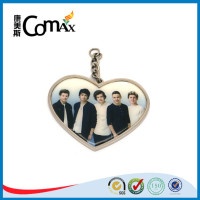 Heart style pendant metal jewelry tags with logo