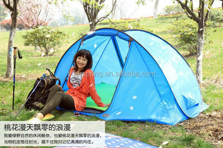 Outdoor leisure fiberglass pole camping tent pop up