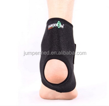 Open toe Neoprene Ankle Support/ankle wraps/ankle sleeve set, One Size, Black