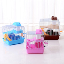 New Design Foldable Castle Hamster Cage with Pot and Wheel Coffee