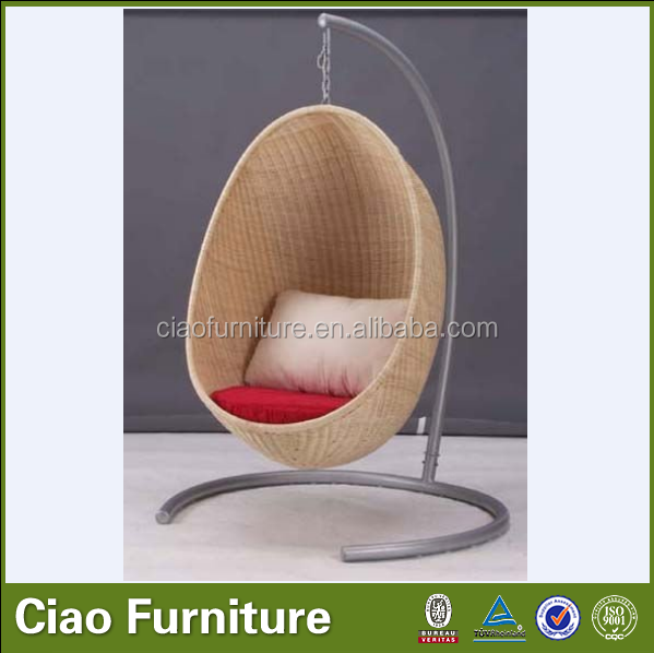 Rattan Outdoor Adult Swing Chair Round Hanging Bed