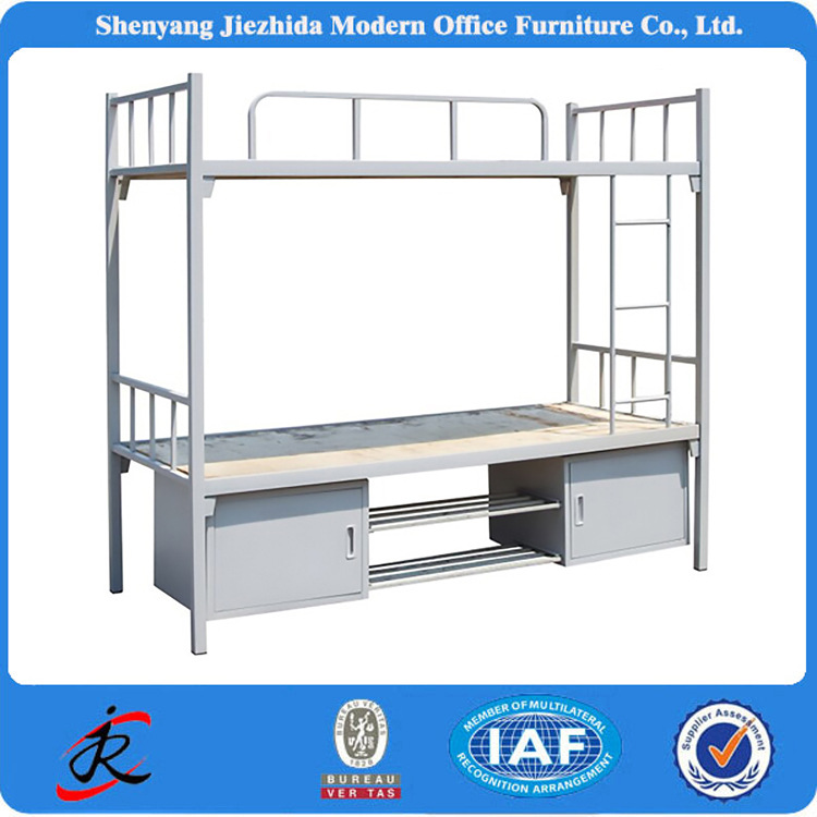 police prison military latest wrought iron kids adult double deck bed design