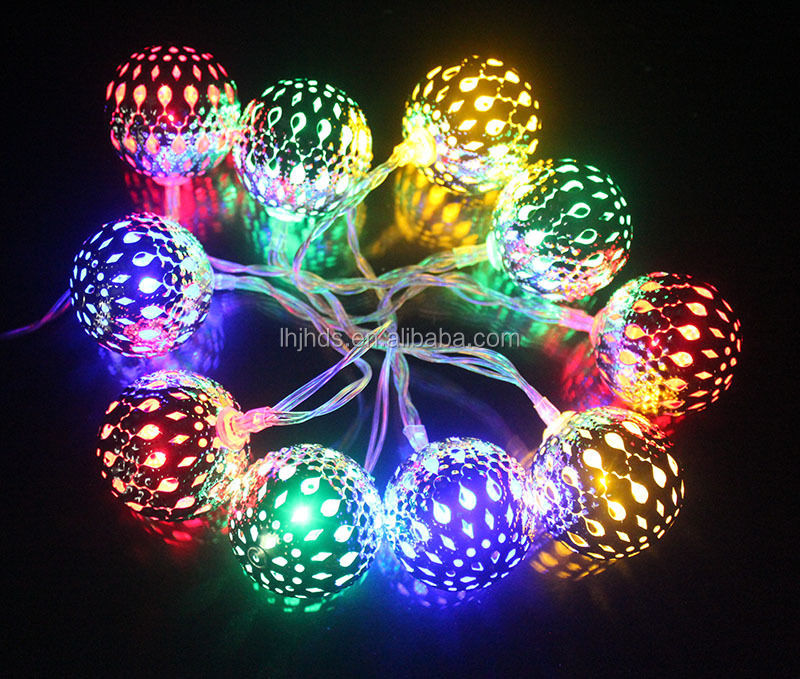 Metal ball LED Christmas Decoration