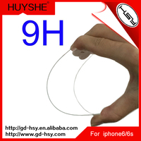 HUYSHE 0.2mm gorilla corning glass tempered glass screen guard for iphone 6s